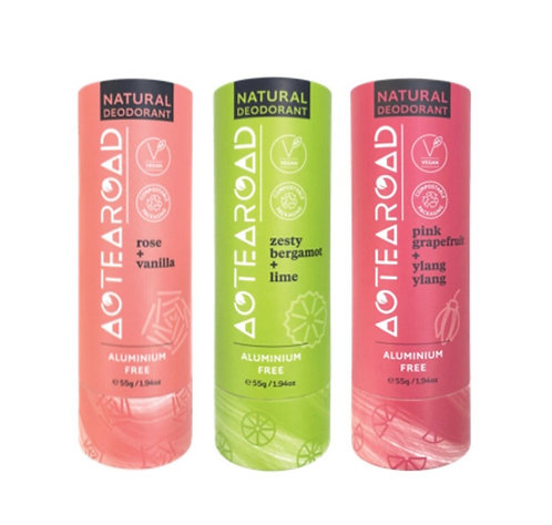 Aotearoad Natural Deodorants 3 Pack