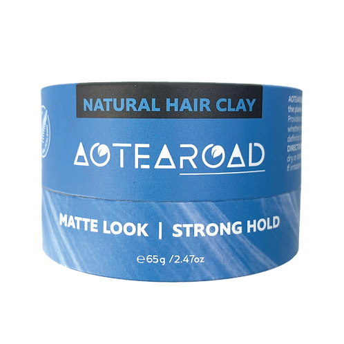 Aotearoad Natural Strong Hold Hair Clay -Vanilla 65g