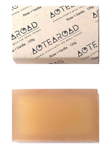 Aotearoad Organic Rose + Vanilla + Pink Clay Soap 2 Pack
