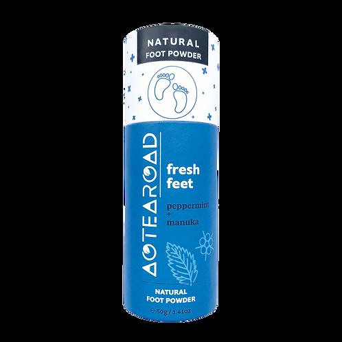 Aotearoad Natural Foot Deodorant Powder - Peppermint + Manuka 50g