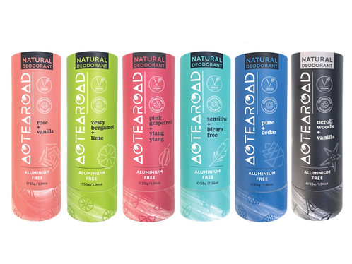 Aotearoad Natural Deodorants 6 Pack