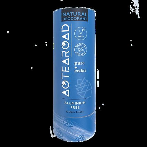 Aotearoad Natural Deodorant    Pure + Cedar