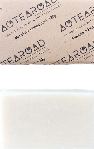 Aotearoad Organic NZ Manuka/Tea Tree + Peppermint Soap 2 pack