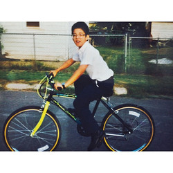 A boy and his bike in Pharr, TX
