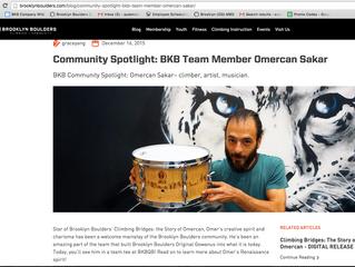 BKB Community Spotlight: Brooklyn Boulders Team Member Omercan Sakar – climber, artist, musician.