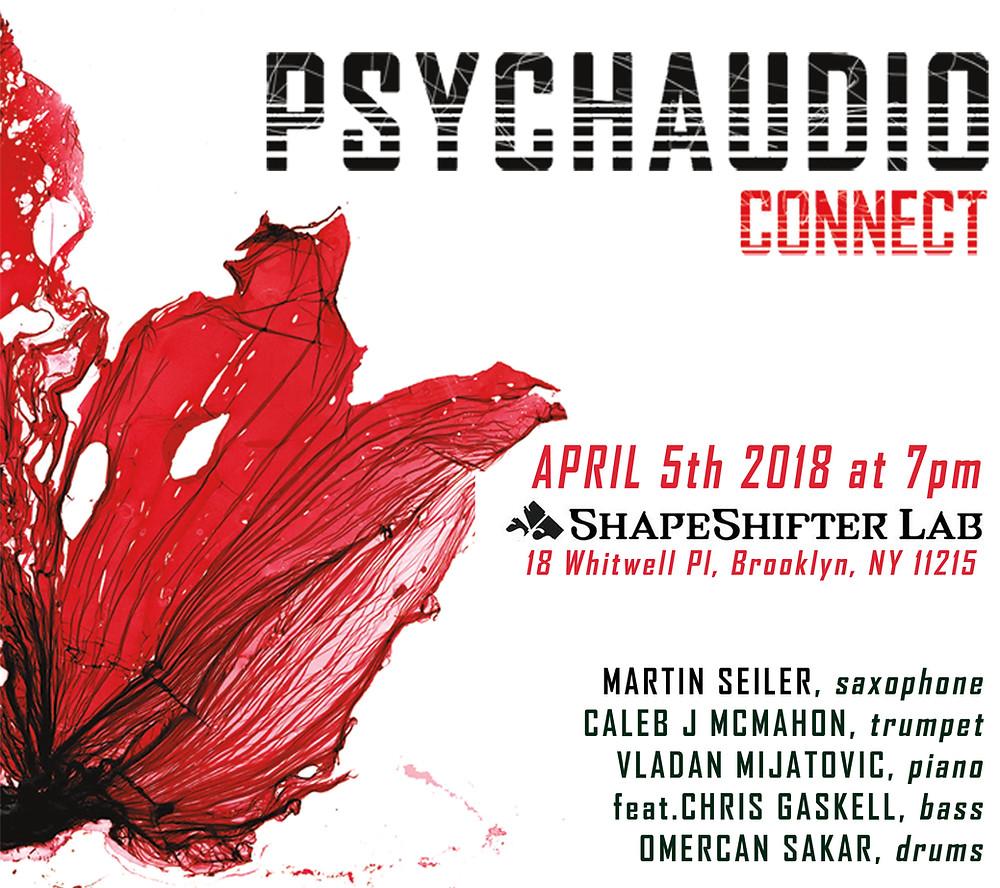 April 5th 2018 at 7pm Shapeshifter Lab in Brooklyn.