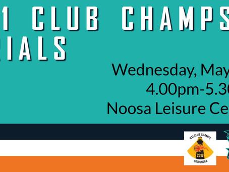 2019 U11 Club Championships Trials