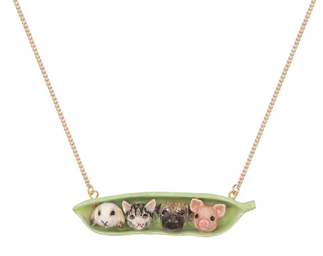 Pet Peas in a Pod Necklace - And Mary