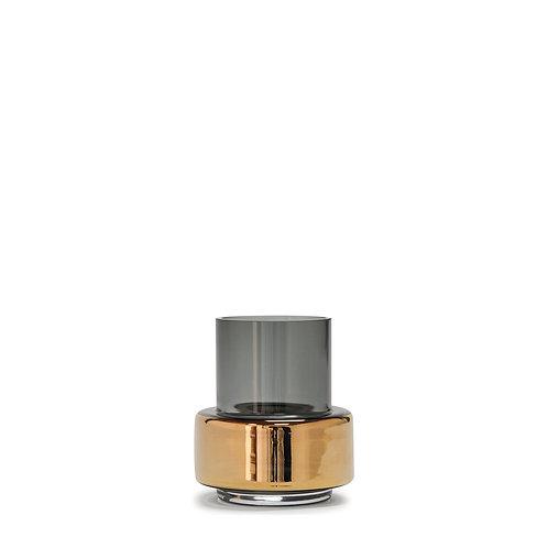 Hurricane Tealight NO. 25 - Smoked Grey + Gold