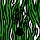 Thumbnail: THOK Green Zebra Crossing Velvet