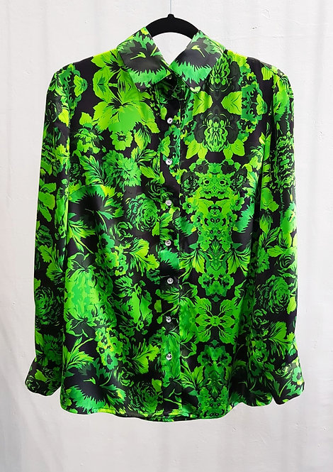 Apple Flora Morelle Silk Shirt- THOK