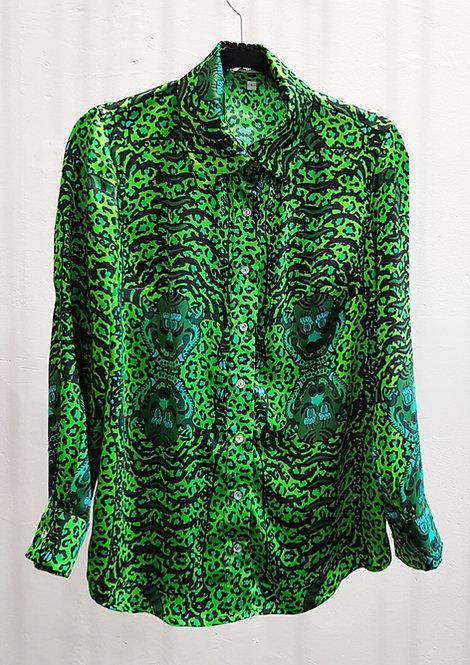 Apple Tibetan Tiger Silk Shirt - THOK