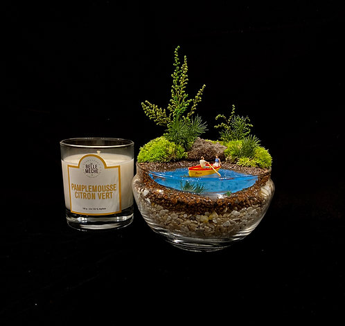 Day Maker Gift Package - (Couple in boat & Candle.)