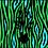 Thumbnail: THOK Lime Zebra Crossing Velvet