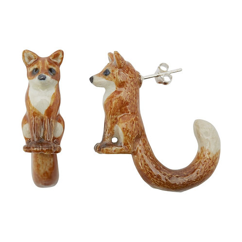 Loop Tail Fox Stud Earrings- And Mary