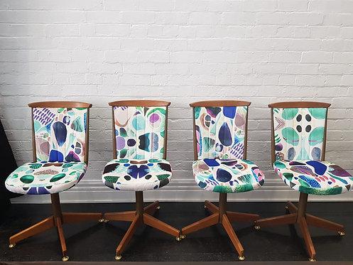 Mid Century Retro Dining Chairs x 4