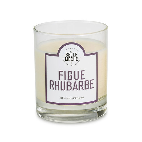 Fig Rhubarb Scented Candle - La Belle Mèche