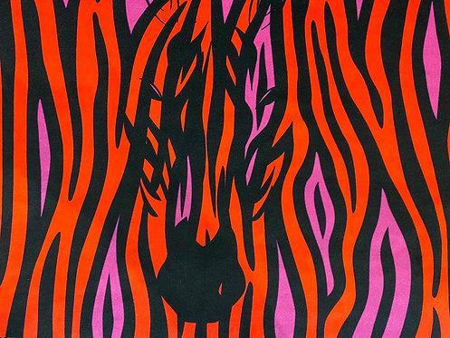 THOK Pink Zebra Crossing Velvet
