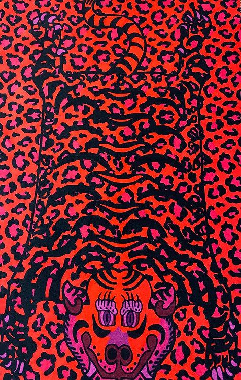 THOK Tibetan Tiger Pink Velvet