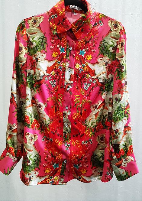 Pink Koala Silk Shirt - THOK