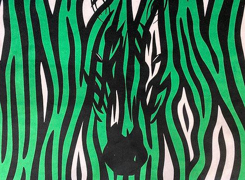 THOK Green Zebra Crossing Velvet
