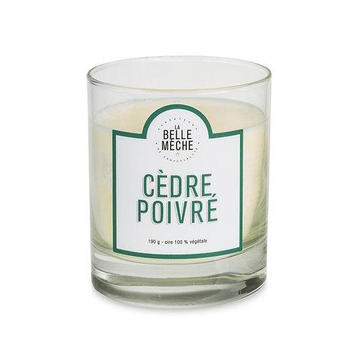 Cedarwood Scented Candle - La Belle Mèche