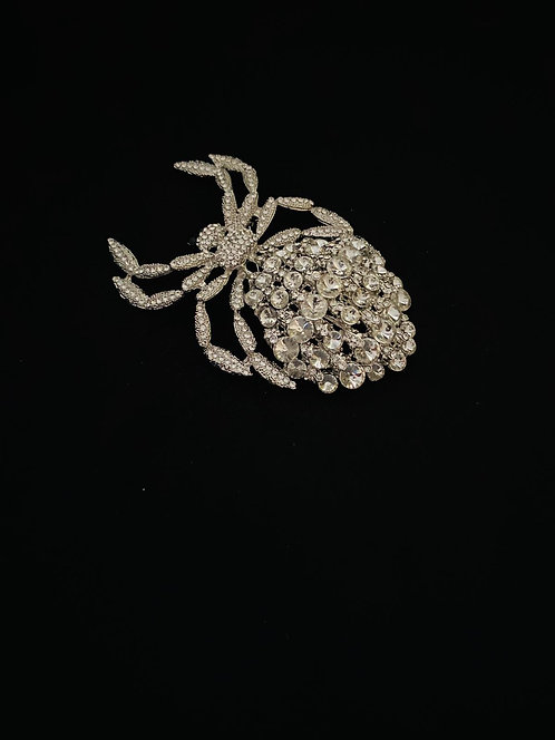 Large jewelled spider brooch