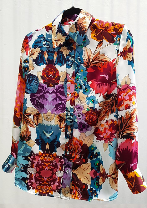 The Original Flora Morelle Silk Shirt- THOK