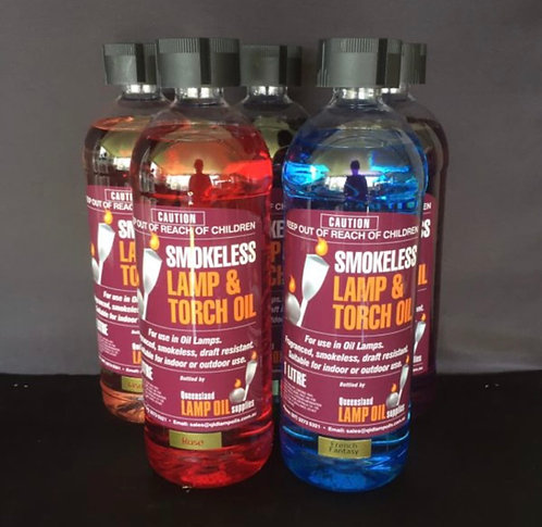 UNSCENTED COLOURED SMOKELESS LAMP OIL 1 litre