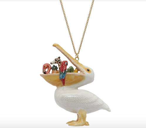 Large Hungry Pelican Necklace - And Mary