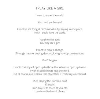 I PLAY LIKE A GIRL