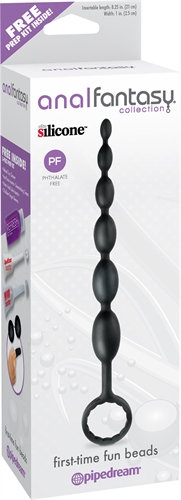 Anal Fantasy Collection First Time Fun Beads - Black