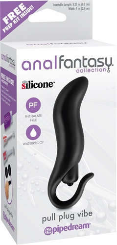 Anal Fantasy Collection Pull Plug Vibe - Black