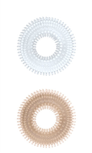 Mack Tuff Ribbed Cock Rings-Clear and Smoke