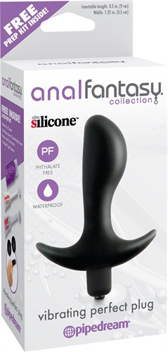 Anal Fantasy Collection Vibrating Perfect Plug - Black