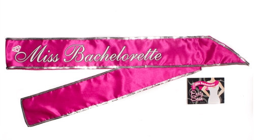 Miss Bachelorette Sash - Hot Pink