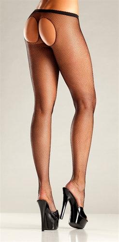 Sheer Thong Pantyhose - One  Size