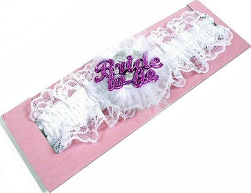 Bride-to-Be Flashing Garter - White