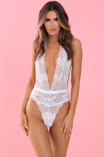 Plunge in Teddy - White - M/l