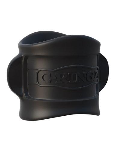 Fantasy C-Ringz Silicone Ball Stretcher - Black