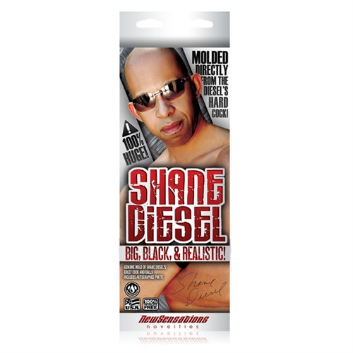 Shane Diesel Big Black and Realistic Dildo