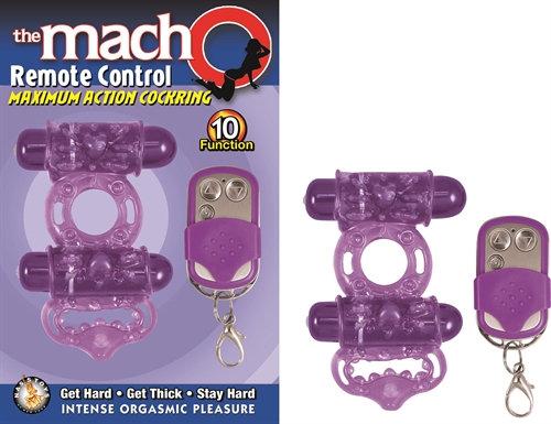 The Macho Remote Control-Cock Ring - Purple