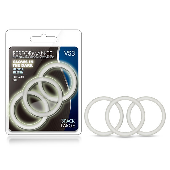 Performance - Vs3 Pure Premium Silicone  Cockrings - Large - White