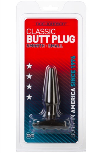 Classic Butt Plug Smooth - Small - Black