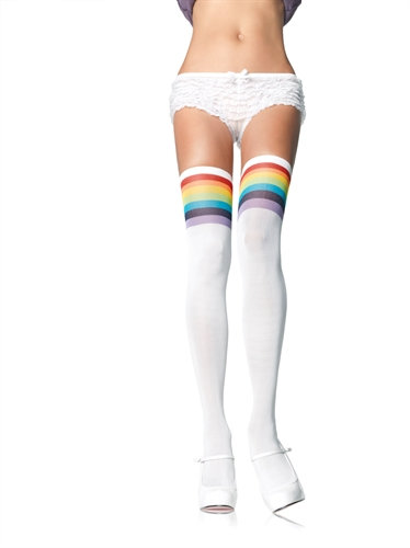 Over the Rainbow Opaque Thigh Highes - One Size