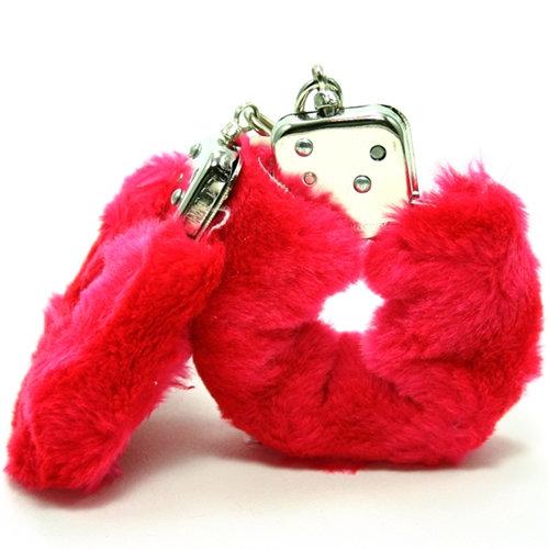 Plush Love Cuffs - Red