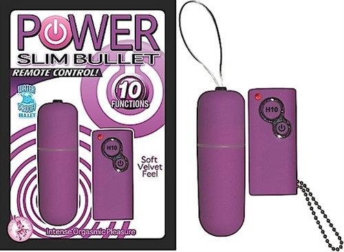 Power Slim Bullet Remote Control - Purple