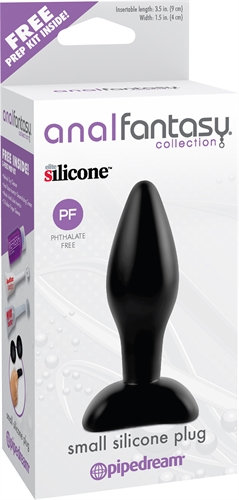 Anal Fantasy Collection Small Silicone Plug - Black