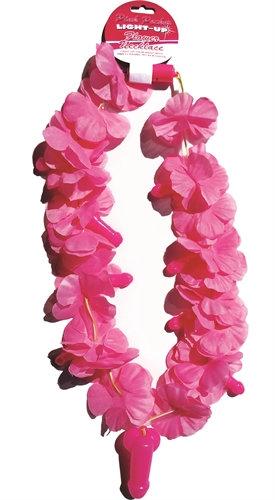 Pink Pecker Light-Up Flower Necklace
