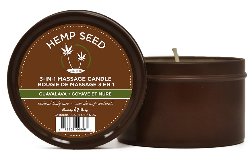 3 in 1 Guavalava Suntouched Candle With Hemp 6.8 Oz - Hemp Seed
